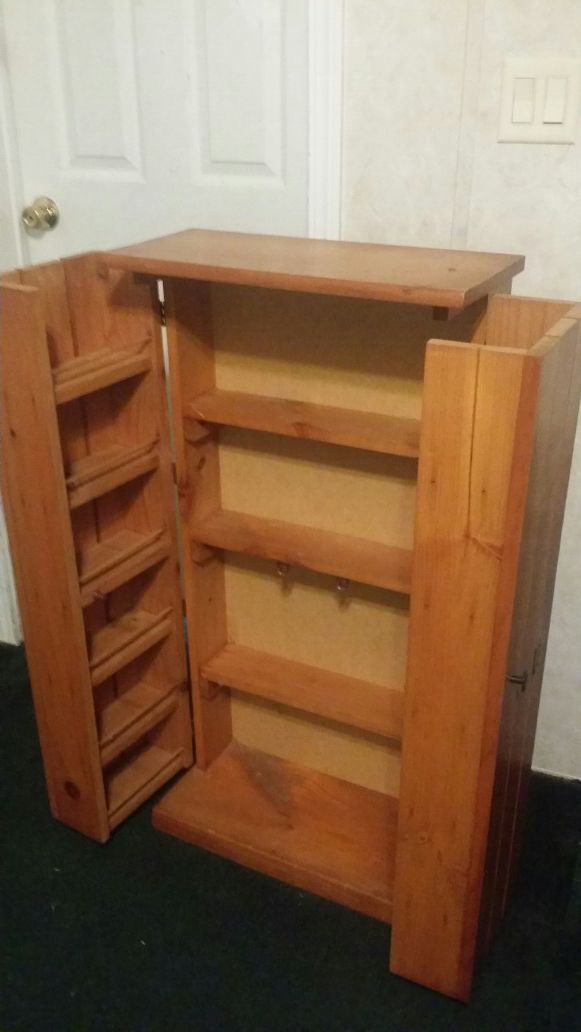 Wood Media/Dvd Cabinet