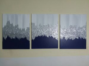 3 piece home decor set wall paintings for Sale in Smyrna, GA