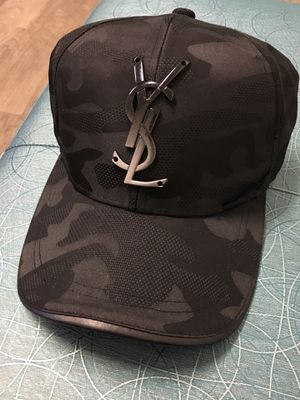 Black Unisex Saint Laurent / YSL Silk strap cap . Brand new / no trades for Sale in Silver Spring, MD