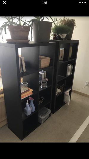 2 Black/Brown 8 Cube Shelves for Sale in Seattle, WA