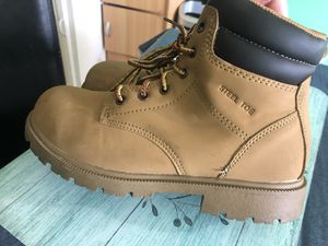 Woman steel toe work boots size 8 for Sale in Springdale, AR