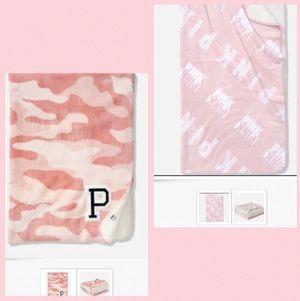 Victoria's Secret Pink Sherpa Blanket Lot, New for Sale in Henrico, VA