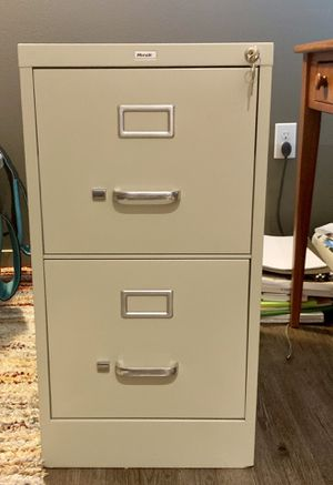 Hirsh Two Drawer File Cabinet - Beige for Sale in Seattle, WA