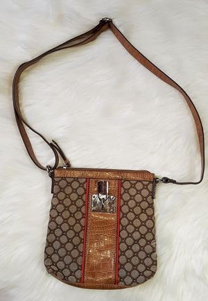 Nine West Leather and Canvas Crossbody Bag for Women for Sale in Old Town Manassas, VA