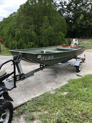 14' Jon boat alumacraft package for Sale in Hudson, FL
