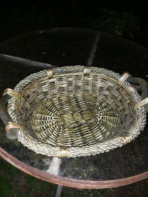 Green wicker basket small for Sale in Lexington, KY