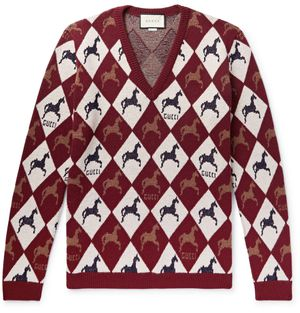 Men's GUCCI Horse Argyle Sweater Small NEW for Sale in Merion Station, PA