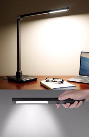 NEW Bestek Desktop LED Reading Sturdying Lamp LED Super Bright Light Backup 90 Minutes Power as Flashlight Emergency Light for Sale in Whittier, CA