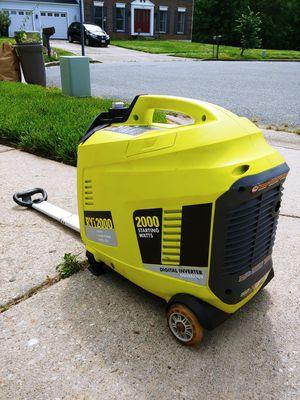 Ryobi 2000 Watt Inverter Generator for Sale in Bladensburg, MD