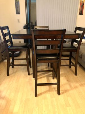 Mahogany/Cherry black Counter Dining Set for Sale in San Jose, CA