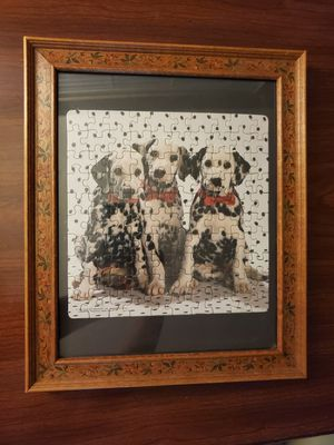 Burns dolmatian puppy dog puzzle photo frame for Sale in Belleair, FL
