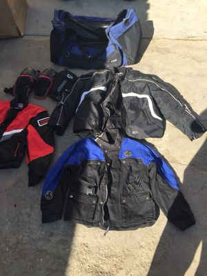 Motorcycle jackets riding gear and bag for Sale in Los Angeles, CA