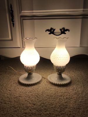 Beautiful milk glass lamps! for Sale in Roseville, CA