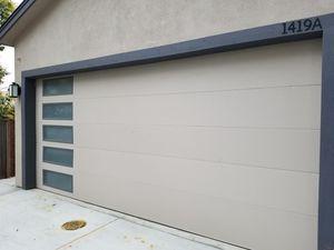16x8 garage door double steel insulated for Sale in Modesto, CA