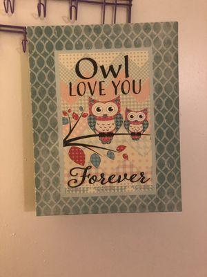 Owl room decor for Sale in Stockton, CA