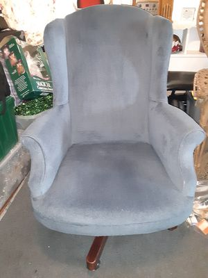 Wingback Swivel Blue Chair for Sale in Essington, PA