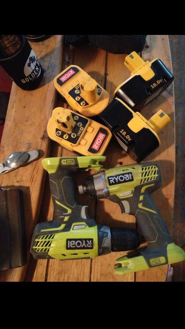 Ryobi 18v tools and batteries