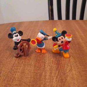 Vintage Mickey Mouse Mini Figures-Birthday & Steam Boat Mickey, Director Donald for Sale in Oregon City, OR