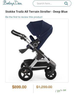 Stokke Trailz Terrain Stroller in Blue for Sale in Peoria, AZ