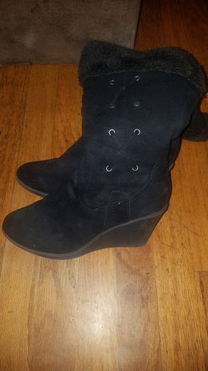Very cute suede wedge boots for Sale in Denver, CO