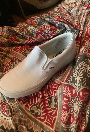 True white slip on vans for Sale in Lehigh Acres, FL