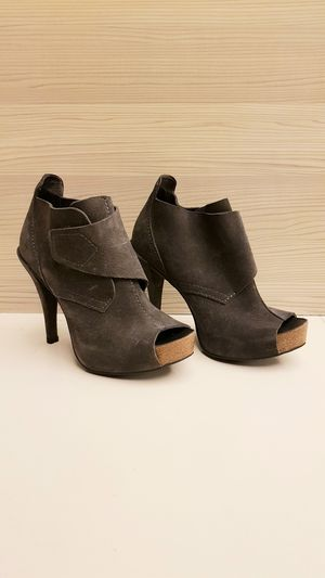 Pedro Garcia Suede Peeptoe Bootie Heels for Sale in Rosemead, CA