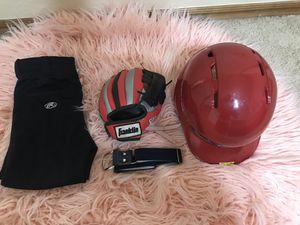 Youth Baseball Batting Helmet and baseball pants ,glove and belt for Sale in Oklahoma City, OK