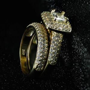 18K Yellow Gold plated Wedding/Engagement Set- Code D012 for Sale in Jacksonville, FL