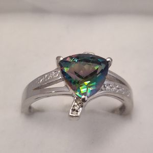 MYSTIC TOPAZ & DIAMOND SILVER RING for Sale in Phoenix, AZ