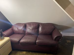 3 seater real leather couch for Sale in Washington, DC