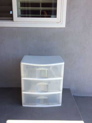 3 drawer plastic storage for Sale in Westminster, CA