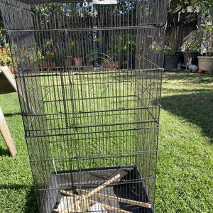 Large Bird Cage, Black. Almost New Condition :) for Sale in Costa Mesa, CA
