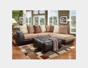 MICROFIBER SECTIONAL NEUTRAL COLORS **USED** for Sale in Haines City, FL