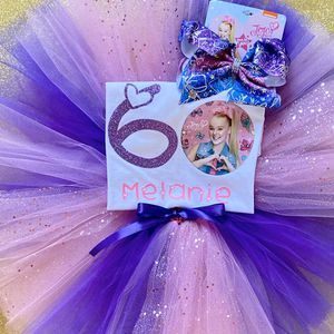 JoJo Siwa Pink & Purple Birthday Outfit: Personalized Shirt & Tutu & Bow for Sale in Long Beach, CA