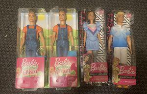 New in box: 2 Barbie sweet orchant farm boy dolls, 2 Barbie fashionistas for Sale in Durham, NC