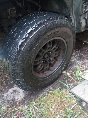 Universal truck rims and all terrain tires for Sale in Sanford, FL