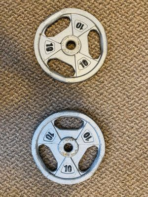 MARCY IRON WEIGHT PLATES 10 LBS X 2 for Sale in North Royalton, OH
