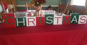 Handmade reversible Christmas/Thanksgiving block decor sign for Sale in Virginia Beach, VA