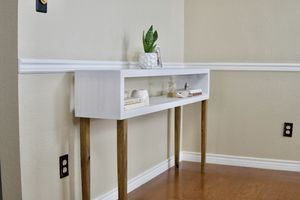 Tall Console table / Entry way table - Mid Century modern rustic for Sale in Spicewood, TX