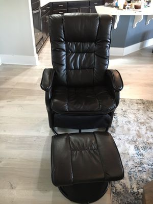 Recliner and ottoman for Sale in Durham, NC