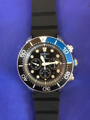 "Seiko Chrono Diver ""Batman"" 44mm for Sale in Roseville, MI"