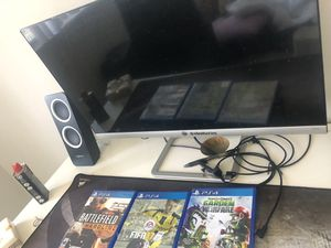 25 es LCD display HP+ps4 games+Logitech Audio for Sale in La Mesa, CA