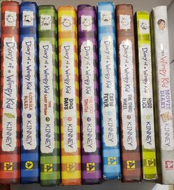 Diary Of A Whimpy Kid #1 - #8, plus 1 extra. for Sale in Albuquerque,  NM