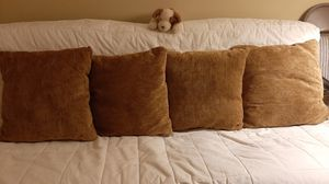 """Four decorative pillows 21"""" x 21"""" for Sale in Germantown, MD"""
