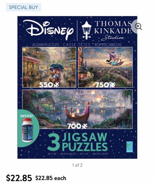 2 Disney Collectible Puzzles