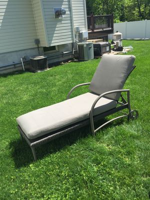 Pool/patio lounge chairs. Never used. Sold at Home Depot for $259. Asking $150 each. I have two available for Sale in Bloomingdale, NJ