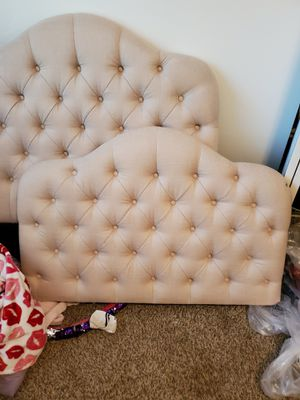 Twin beds with foot board only one frame for Sale in Midlothian, VA