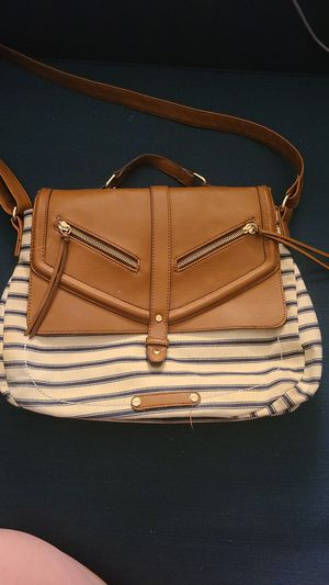 White and navy striped crossbody messenger bag for Sale in Park Ridge, IL