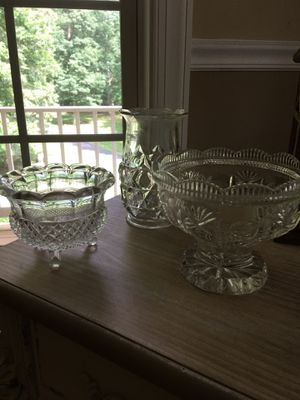 Random unique cut glass, pops any dish collection. Candy table, jewelry, trinkets many ideas. 20 for all for Sale in Mechanicsville, MD
