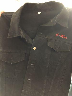 Alan Jackson 1996 tour black denim jacket size large for Sale in Colonial Heights, VA